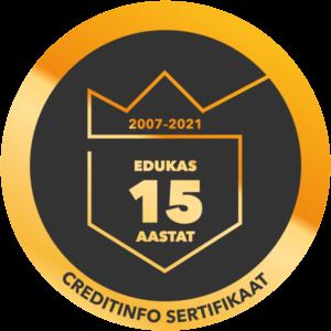 Creditinfo sertifikaat Coffeecup OÜ