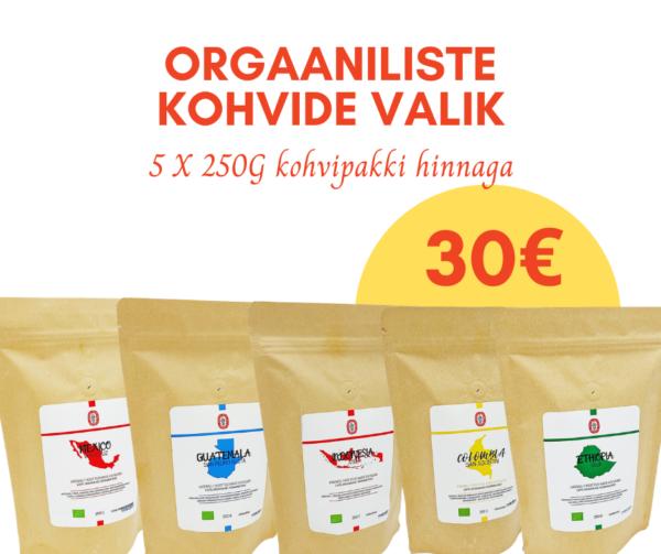 ORGAANILISTE KOHVIDE VALIK -23%