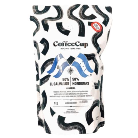 CoffeeCup käsitöökohv: 50% El Salvador / 50% Honduras
