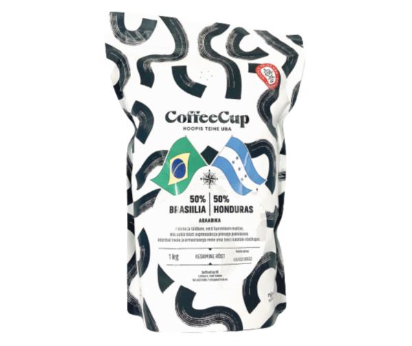 CoffeeCup käsitöökohv: 50% Brasiilia / 50% Honduras